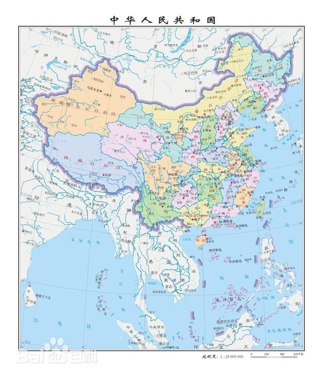 日本和越南眼中的中国地图