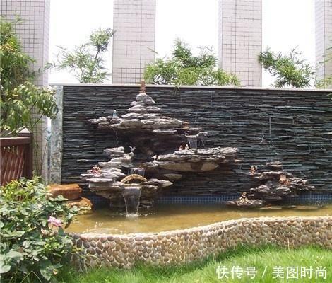 尤其是农村的房子院子很大,不妨修个鱼池,配上简单的绿化假山,只要修