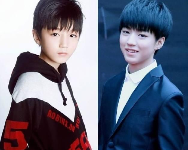 tfboys成员童年对比照曝光!王俊凯从小帅到大,千玺童年最辣眼