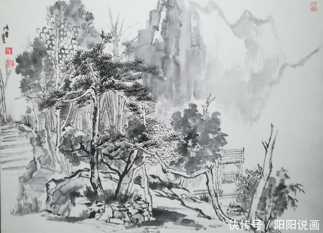 国画 简笔画 手绘 素描 线稿 640_461