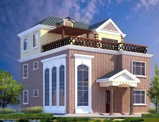 农村自建别墅设计图(成本10-20万)现代设计风格简单实用