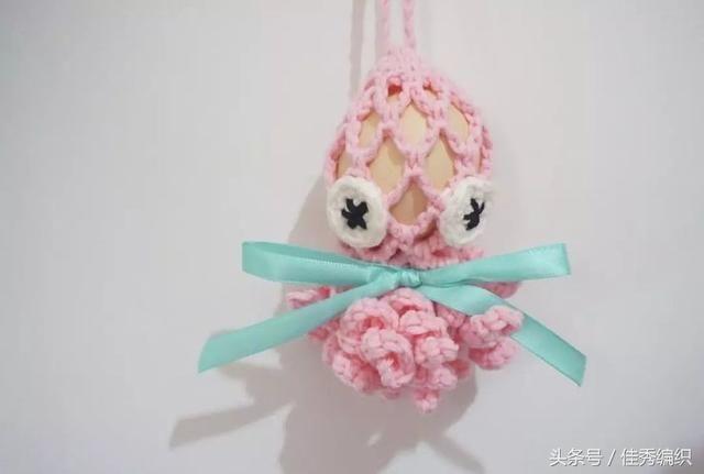 钩针编织技巧图解|端午蛋袋编织 端午节蛋袋2款小金鱼