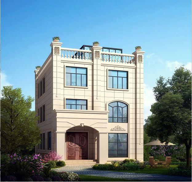 8x10米农村三层别墅,户型小,外观靓,建起就是豪宅!