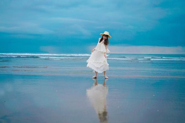 镜像般的美景,没有日落,也不枉海边走了一趟.