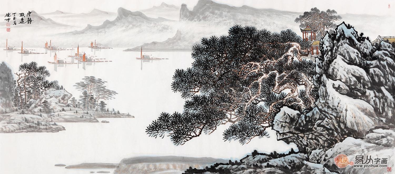 字画收藏佳作 林德坤精品山水画《宁静致远》作品来源:易从网图片