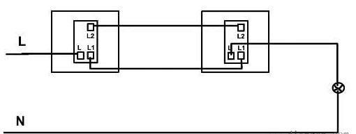 电工基础:单开双控开关接线方式