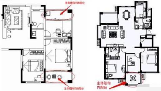 则阳台为主体结构内,计算全面积. 如下图