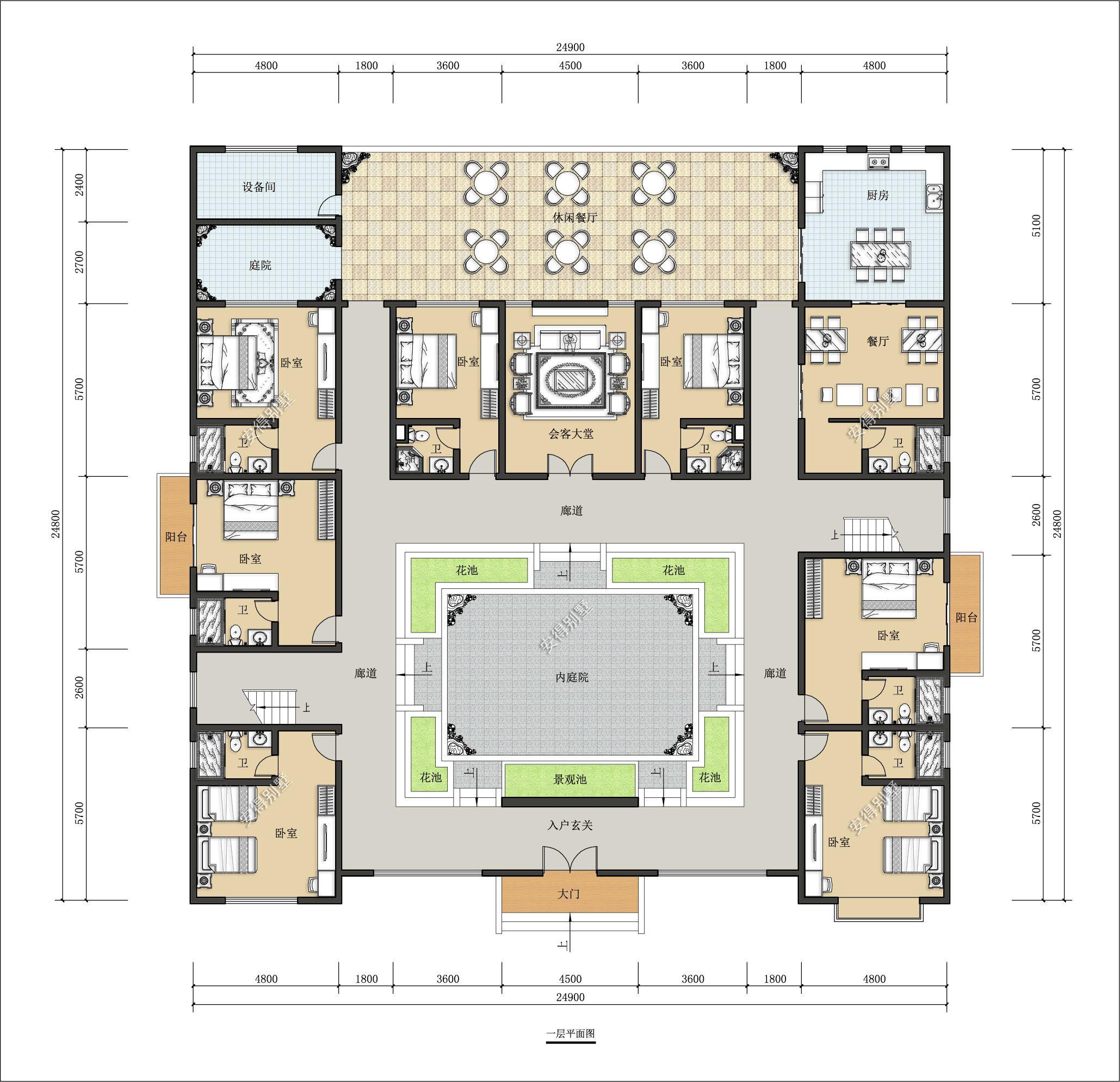 超美民宿四合院设计,农村自建合院建筑图纸,胜过城市