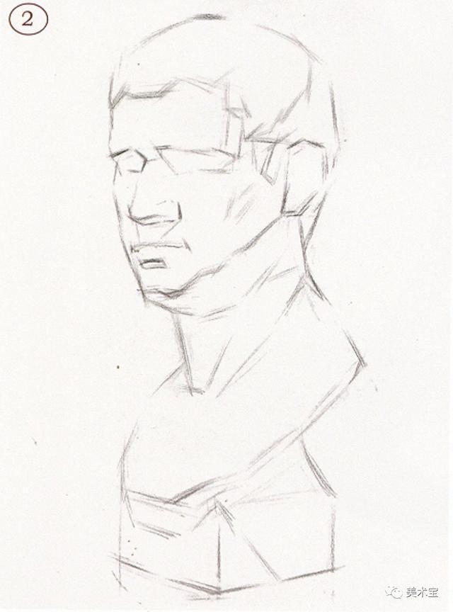 素描石膏头像|荷马,阿格里巴作画思路