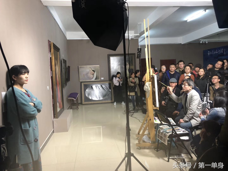 新具象油畫沙龍,冷軍老師寫生現場示范