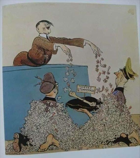 25张二战时期苏联反纳粹宣传画,很有内涵,你能看懂几张?