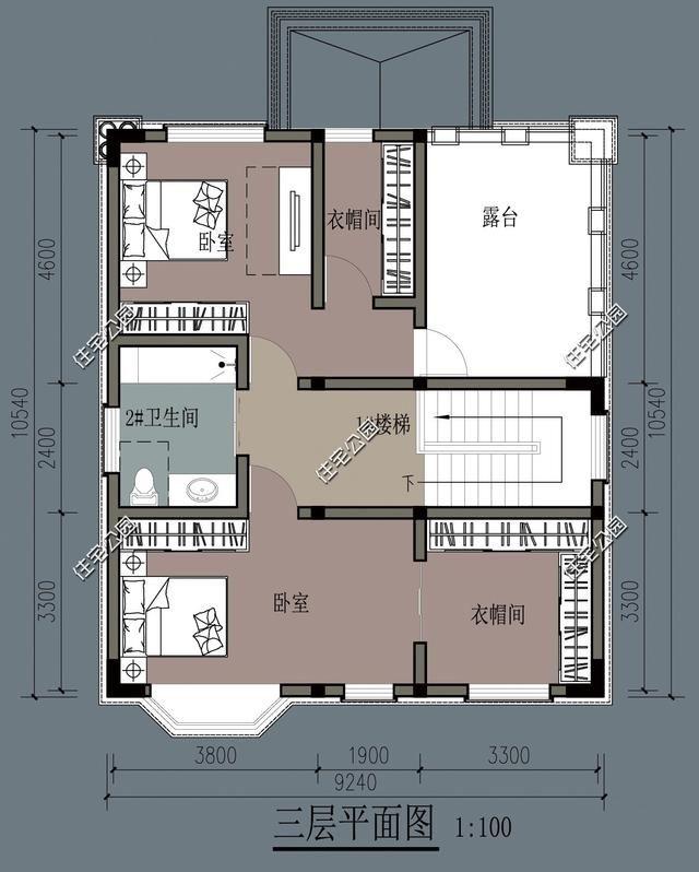 9x12米农村别墅,三层小户型别墅,占地面积100平大家都