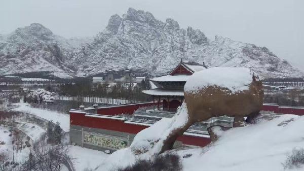 山西原平天涯山风景区雪景