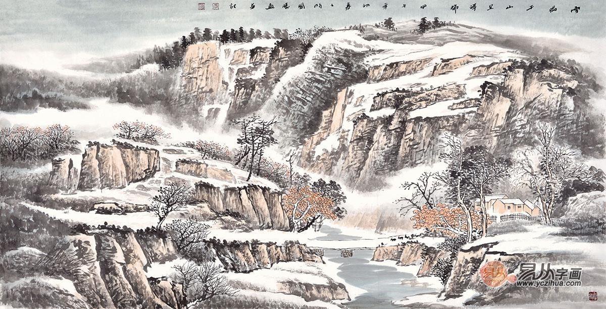 那些洁白高贵的寒冬雪景画图片