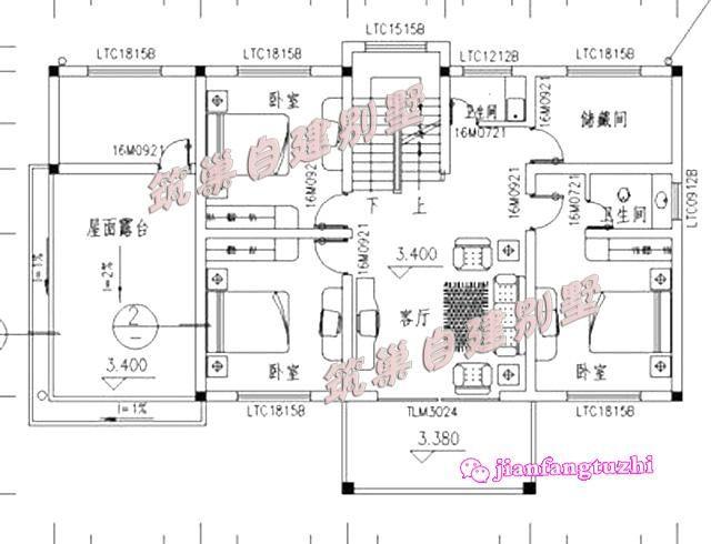 三层半房屋设计图 农村四层半房屋设计图