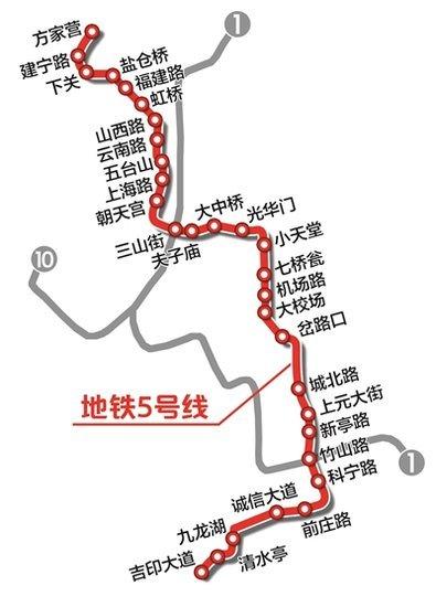 南京地铁2022规划图出炉 最长地铁6号线达70公里