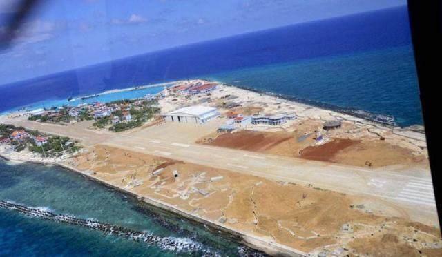 南沙群岛最新填海囹�a_1975年北越统一越南,继承之,并将占据南沙群岛第一线军事指挥中心设