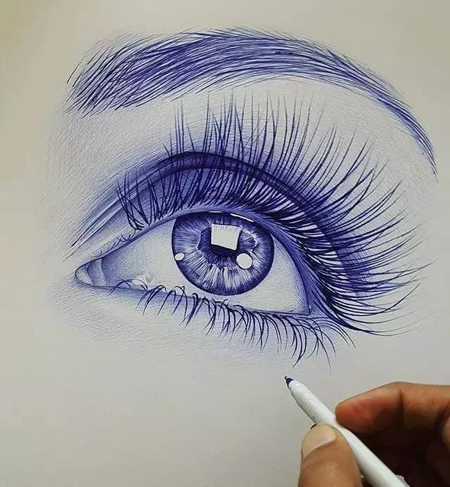 用圆珠笔画的作品原来可以这么美,我想你一定会爱上它