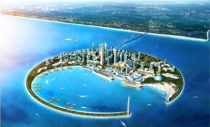 中国这么大占地还不够?填海造岛被称为东方迪拜,网友