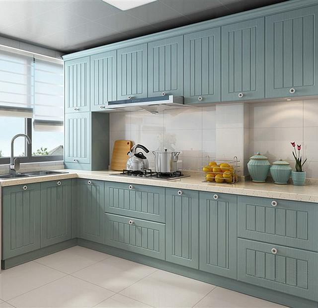 小户型美式风格装修设计-厨房