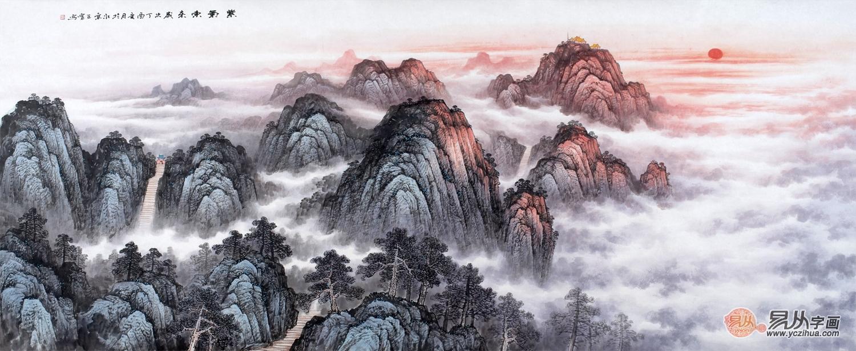 新中式客厅挂画山水画,诗情画意,真美!