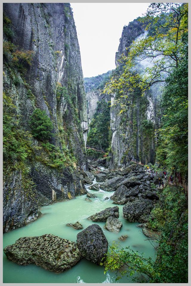 奇山秀水小巫峡--南江县小巫峡风景区随拍