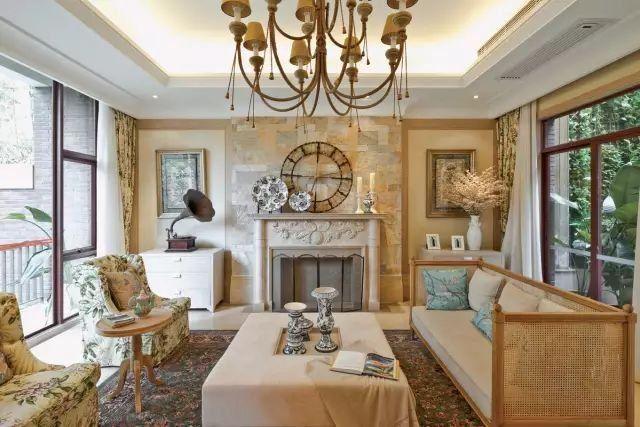 文化石背景墙 欧式装饰壁炉形成独有的欧式格调,贵气又浪漫十足.