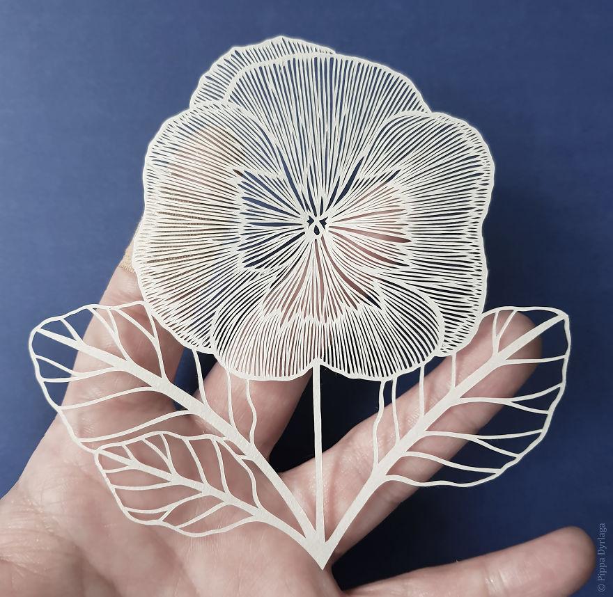 怎样用纸剪花朵_用纸剪花朵步骤图片