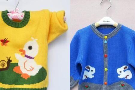 手工编织宝宝毛衣 创意时尚美翻天