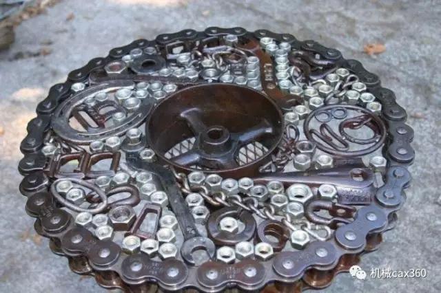 工程师用废旧零件制作的工艺品,突然发现链条是个好东西!