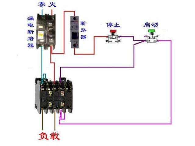 电工必备|断路器及接触器电路图大全 电机接线不求人