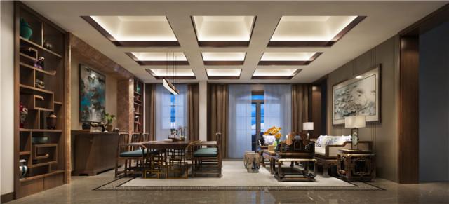 远大美域210平跃层欧式风格装修设计-茶室效果图