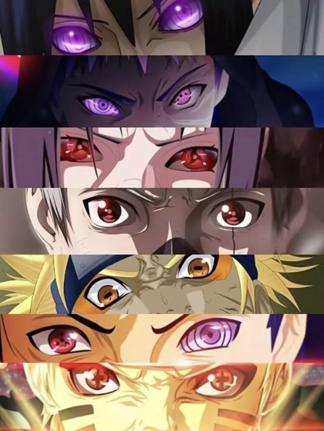火影忍者:一组火影眼睛图,你都认识吗?