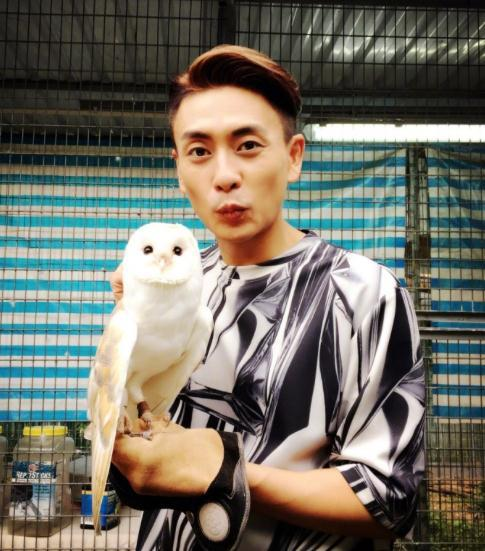 4月7日,黄宗泽在微博中晒出与猫头鹰的合照,配文道:
