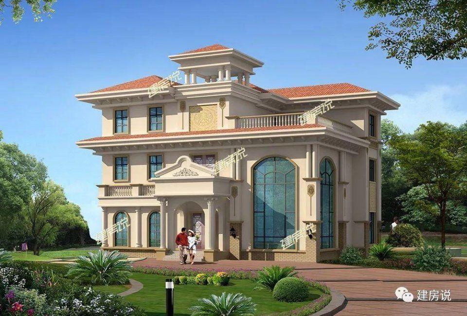 第2栋:这款是浙江的别墅,典型的欧式风格,欧式别墅一直是各类别墅自