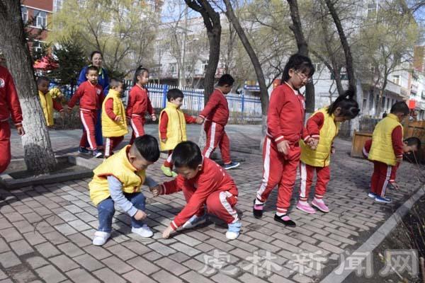 """虎林市教育中心幼儿园开展""""五一""""劳动节活动"""