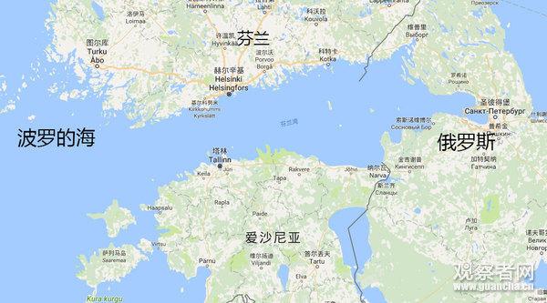 芬兰地图与地理位置