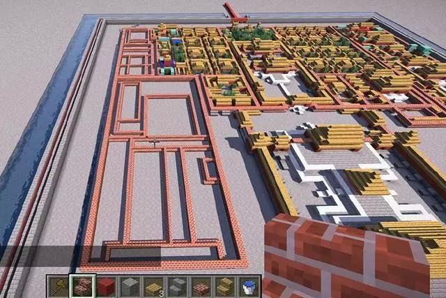 我的世界:大神在游戏中建造故宫,mc玩家:又是迷你做不