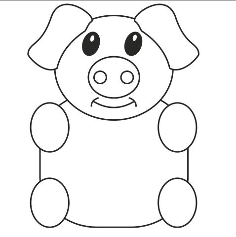 生肖猪创意设计手绘