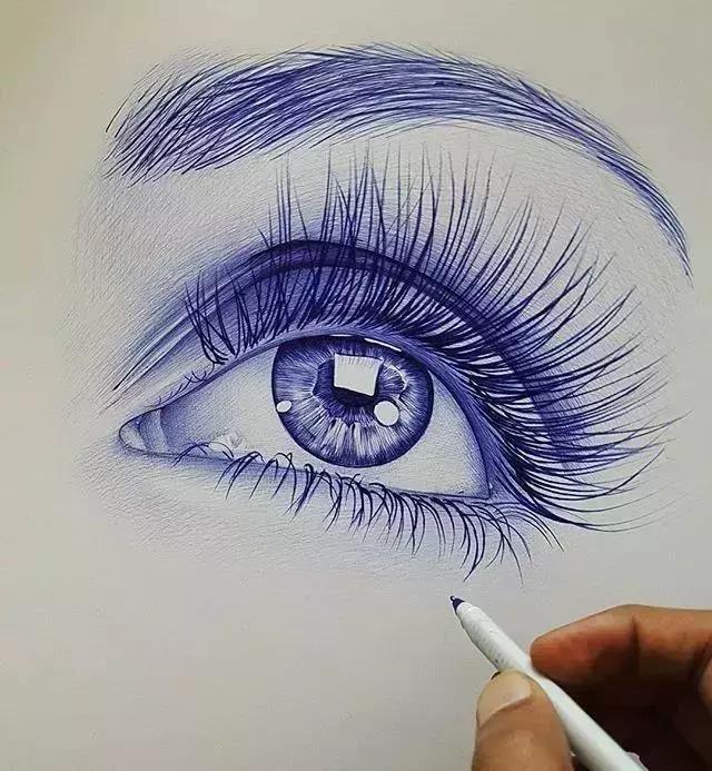 圆珠笔画素描原来这么美