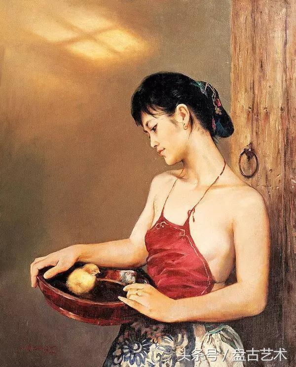美女人体艺术油画哪个部位最爱看(盘古艺术定制油画 国画 书画