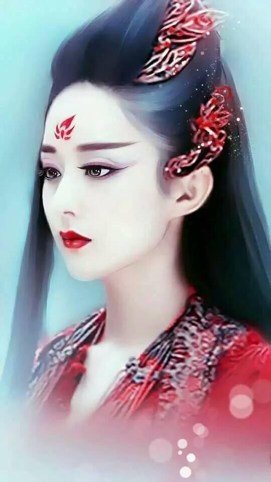 众女星手绘版,赵丽颖热巴古装美得惊艳,baby李沁只活在现代