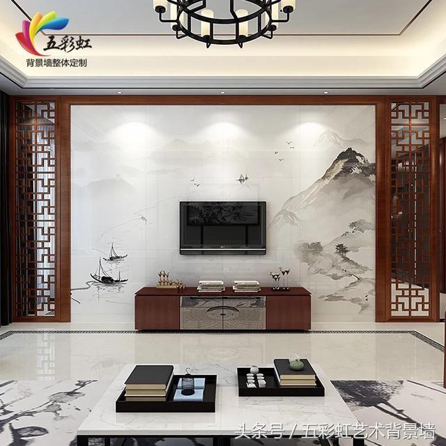 11款新中式花格边框搭配电视墙,享受意境,结庐人境!