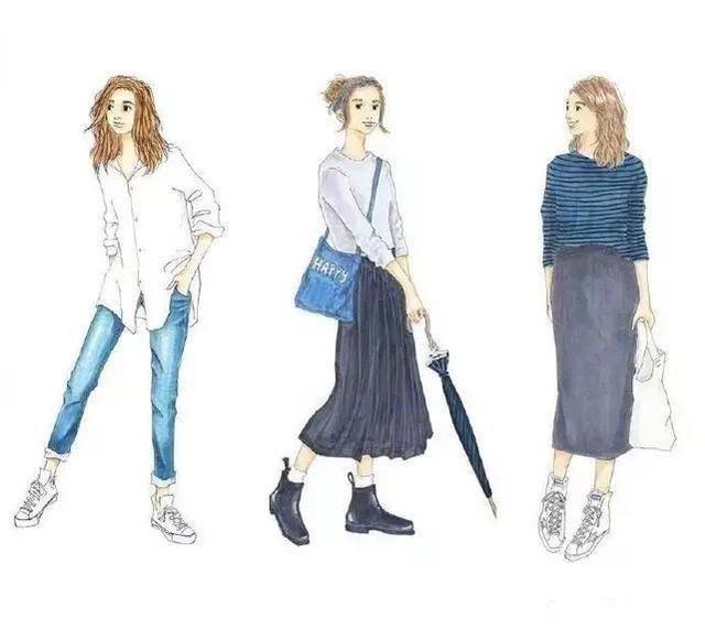 日本超人气插画师,手绘穿搭图教你怎么穿好看!