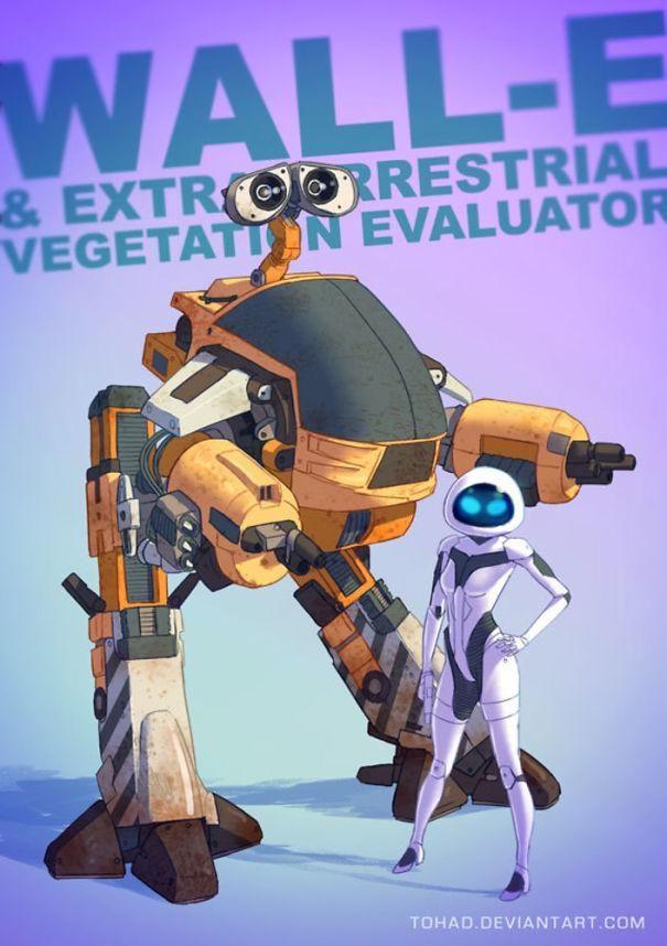瓦力变成80年代版《机器战警》里的镇暴机器人.