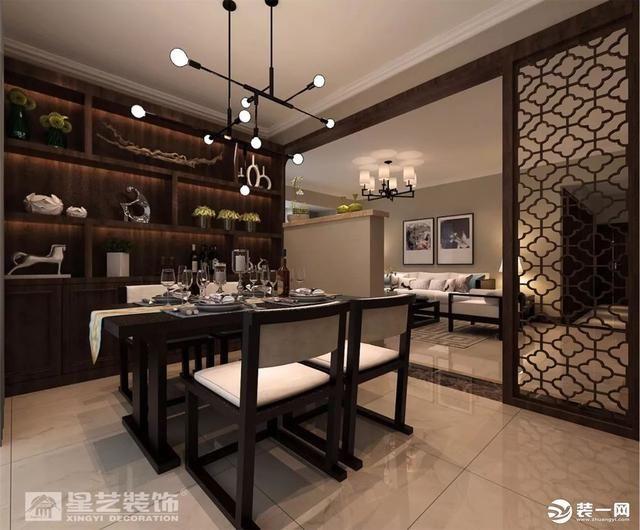 140平新中式风格装修设计推荐 圆形门洞设计典雅内涵