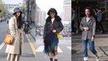 杭州街拍:终于放晴,美女穿上时尚春装逛街了