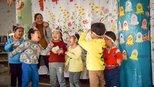 欢迎家长进园,我家大门常打开 自信的市南区教育第六幼儿园