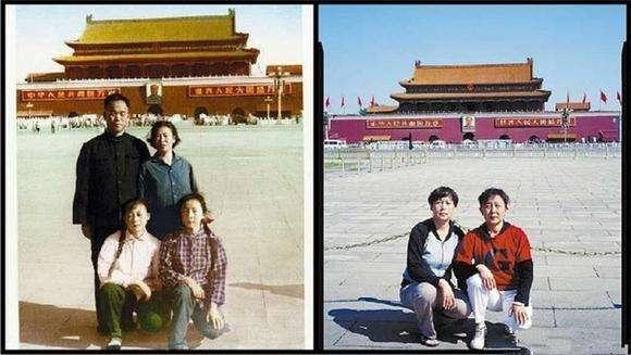 50年代天安门老照片,没想到60年后变化如此大,没有对比没有伤害