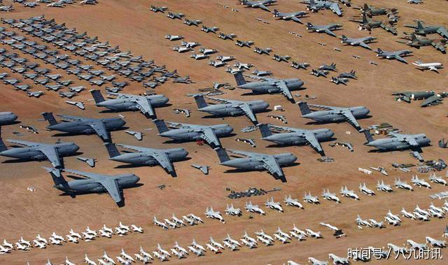美国空军比中国强?四千架战机被丢进沙漠:一半以上中国都没
